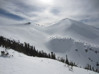 Skiing Freel Peak: Big and Remote