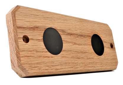 Summitier magnetic oak wine tumbler rack for 2 cups
