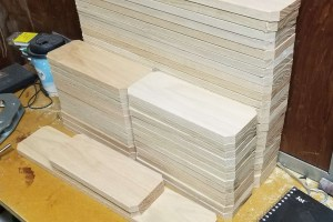 raw oak wooden blanks for summitier wine tumbler hanging shelves