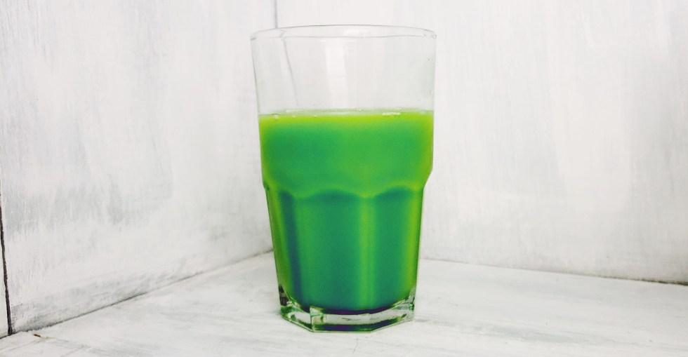Green Screwdriver for St. Patty's Day Vodka Orange Juice Cocktail
