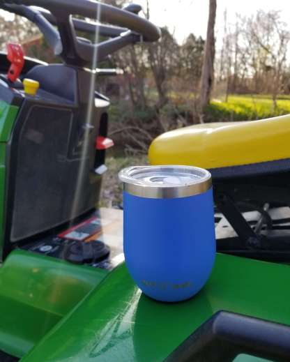 Magnetic Tumbler On Lawn Mower Tractor