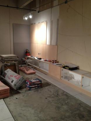 The Credenza Being Installed