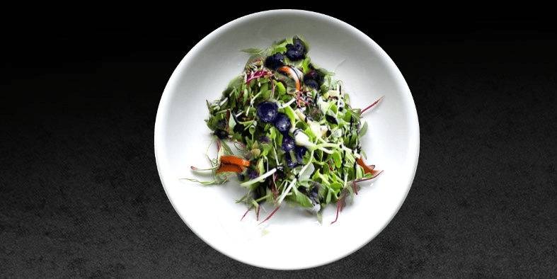 Sprout Salad with Blueberries