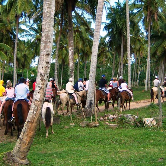 Horseback riding in samana