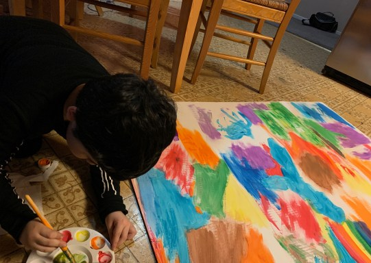 I find myself spending time with my brother doing arts and crafts in my free time. We spend many evenings painting and drawing. PHOTO CREDIT: Analisa Sofia Perez