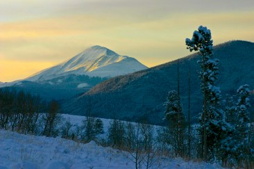 Sunrise over Mt. Guyot, Summit County, Colorado.