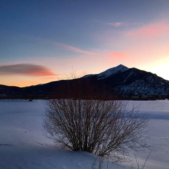 Low winter sun.