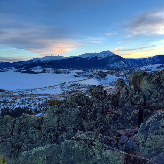 Blue shadows along the Ptarmigan Trail, Silverthorne, Colorado.