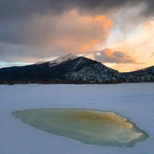 Snowmelt pond in Frisco.