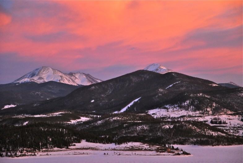 Mountain glow.