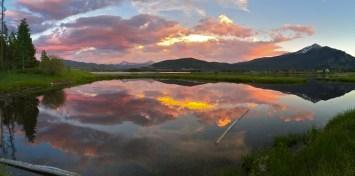 A brilliant sunset over Dillon Reservoir.