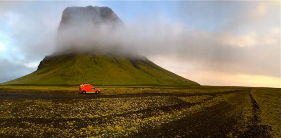 Happy campers in southern Iceland.