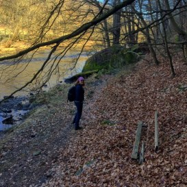 Hiking along the Thaya River in Lower Austria.