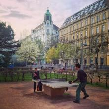 public pingpong table Wien