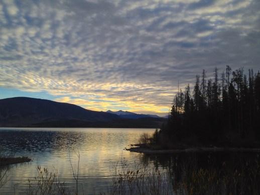 Dawn sky in Colorado