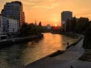 Danube sunset.