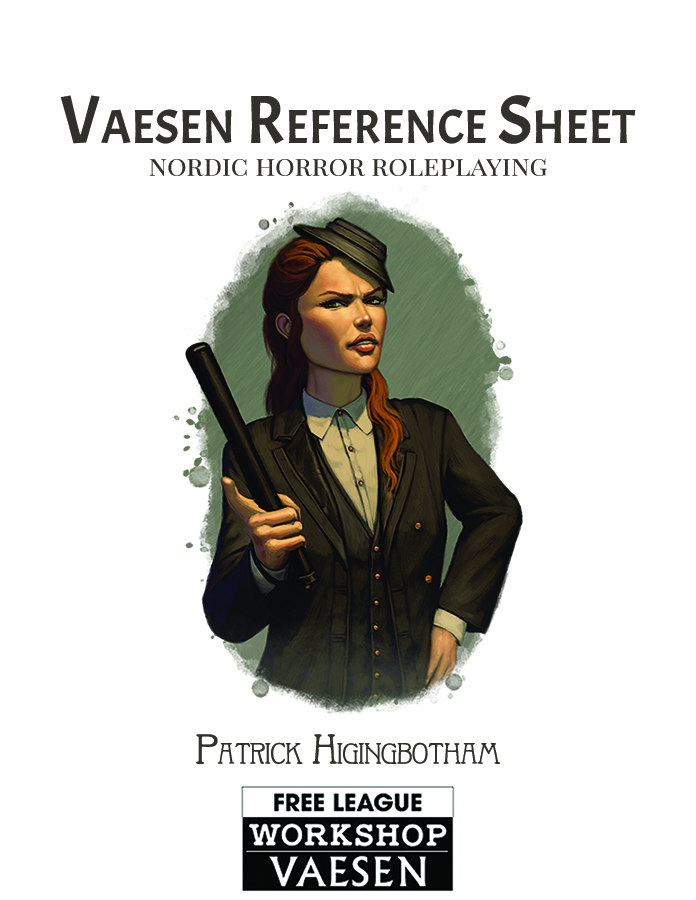 Vaesen Reference Sheet cover image with private detective