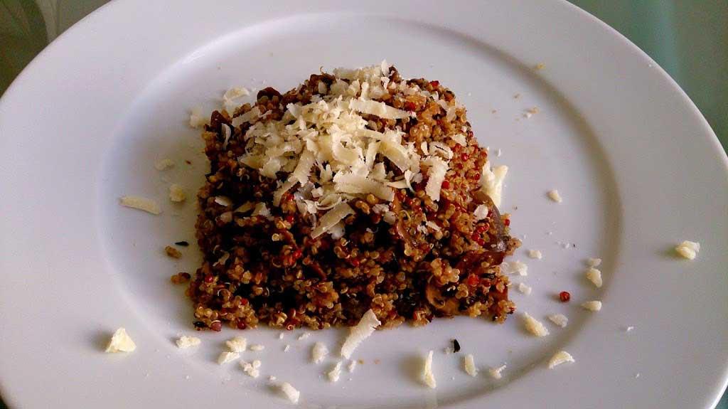 Receta de Quinoa con Hongos