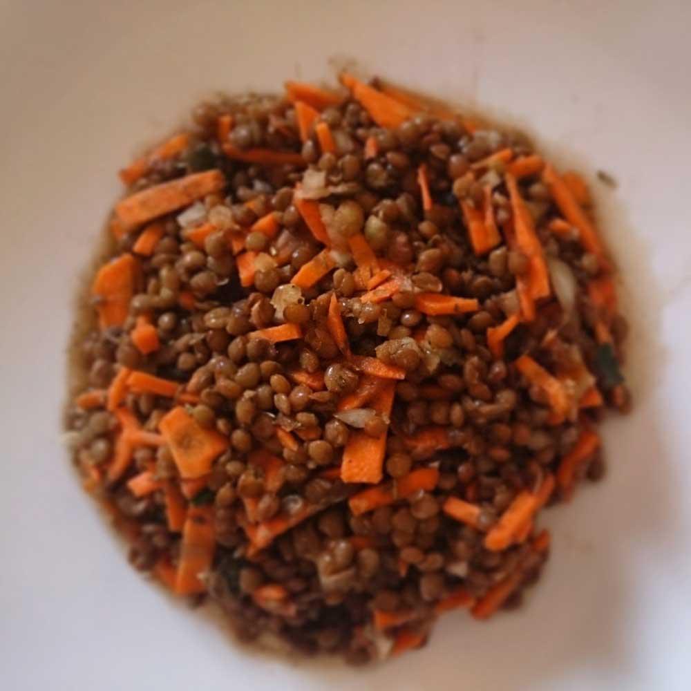 How to make a lentil salad