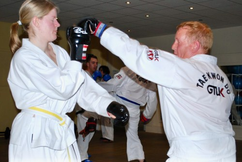 Sumners TKD sparring - 1
