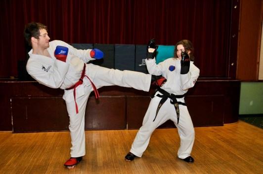 Sumners TKD sparring - 2