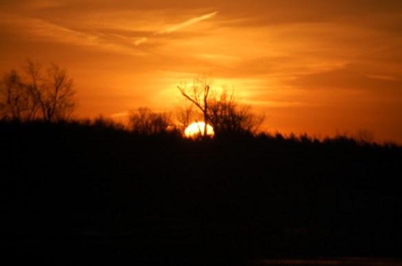 The sun rises in Lexington with a wondrous glow