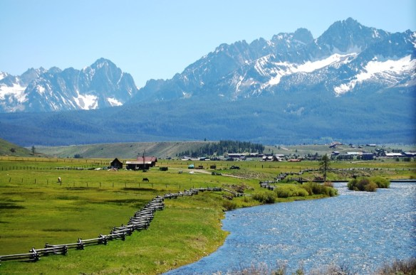 The Sawtooth Mountains as viewed from Stanley, Idaho