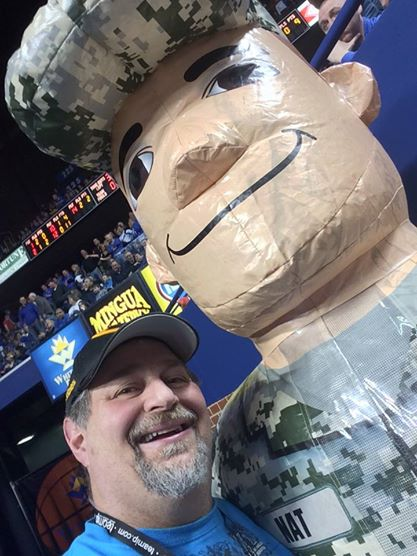 Sumoflam and the National Guard guy at KHSAA Sweet 16