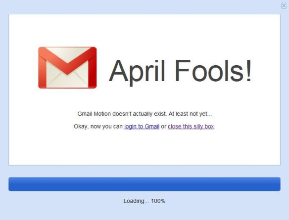 G-Mail April Fools 2011