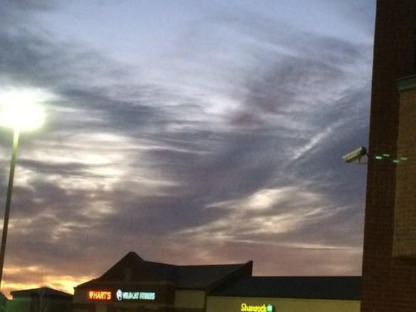 Gray streaks in the sky