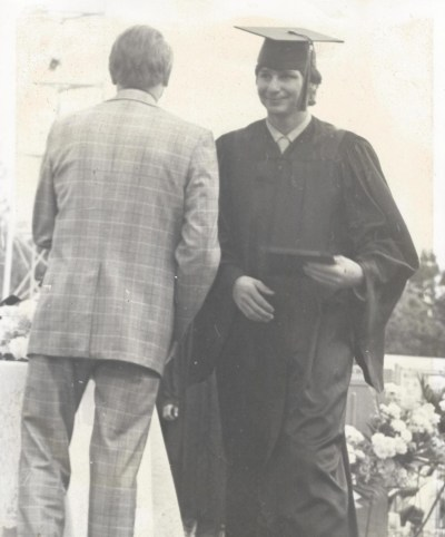 Graduation from Murray High School in Utah in 1974