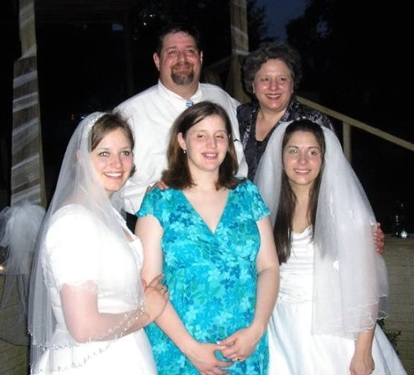 All three girls married in 2005