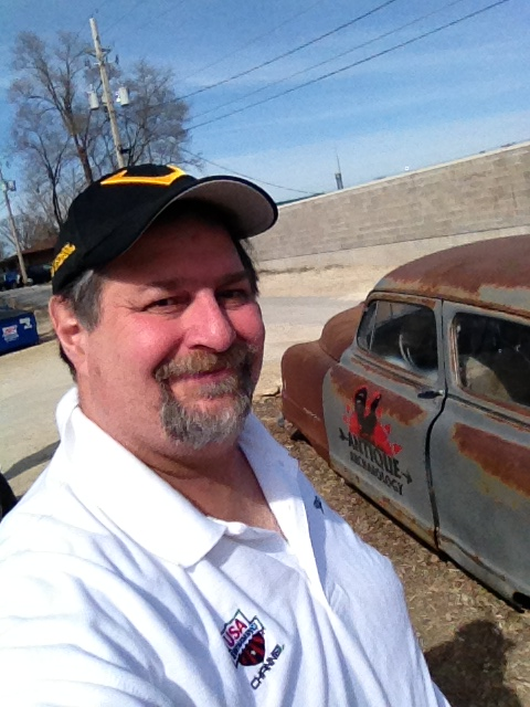 Or with famous things like the car used in American Pickers. This is in LeClaire, Iowa
