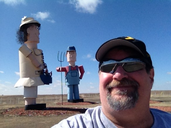 Hanging with the Tin Family in North Dakota's Enchanted Highway in June 2013