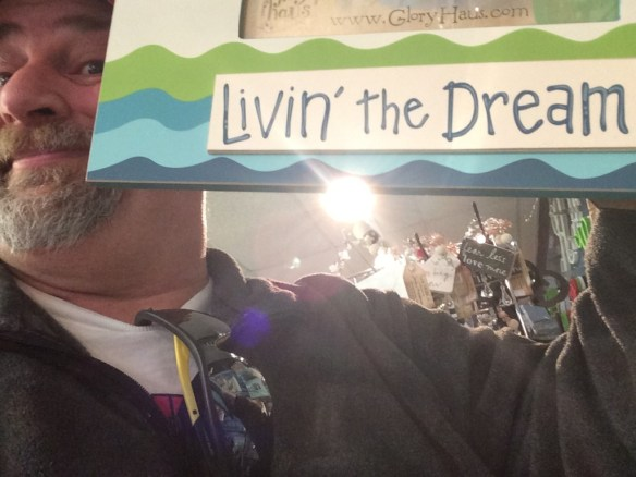 Livin' the Dream - taken at a Hobby Lobby in December 2013 - refers to Antsy's CD of the same name