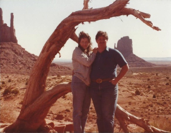 David and Julianne 1979 in Monument Valley