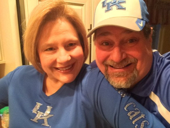 Cheering on UK in 2013 NCAA Championship Game