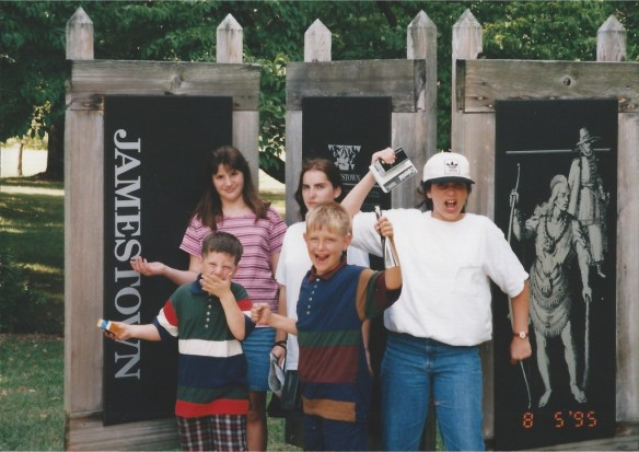 Visiting Jamestown, Virginia in 1995