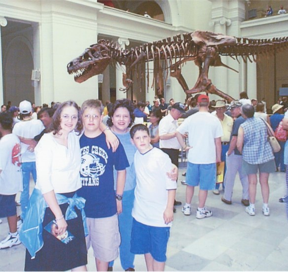 Visiting the Museum in Chicago to see the T-Rex 1994