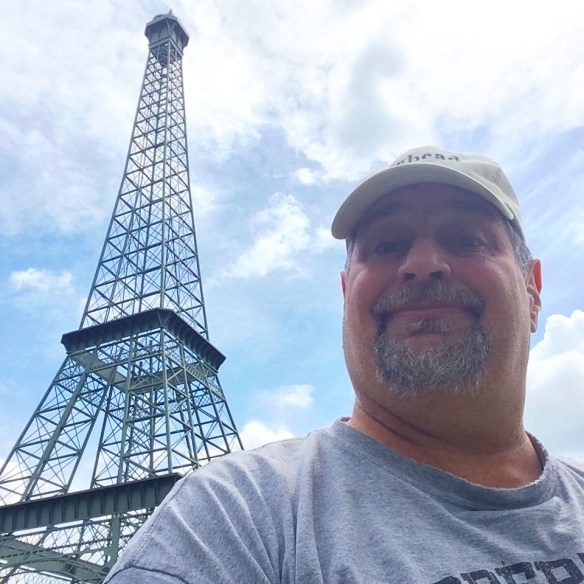 At the Eiffel Tower in Paris, Tennessee in June 2014