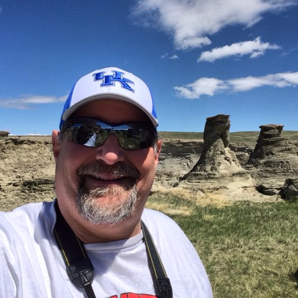 Visiting Rock City near Valier, Montana in May 2014