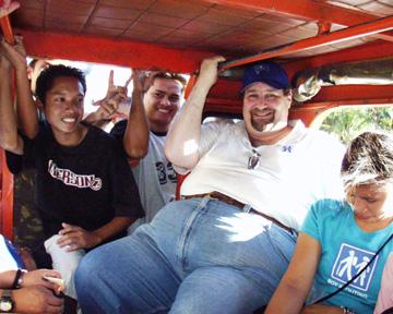 David on a Jeepney in Cebu, Philippines in 2007