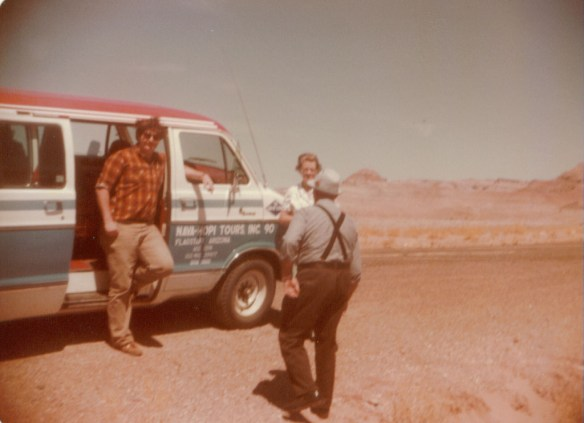 Working as a Tour Guide with visitors from the Isle of Man on the Navajo Reservation in 1983