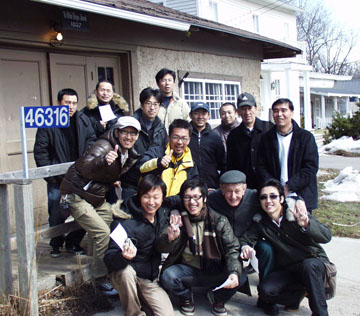"Japanese trainers in Sparta, Ontario on a Sumoflam led ""tour"" of Southern Ontario"