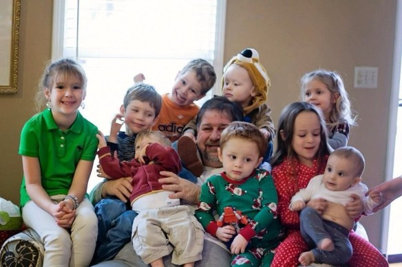 Christmas 2012 with my nine grandchildren