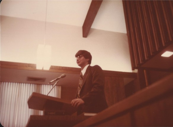 Missionary Farewell talk in February 1976
