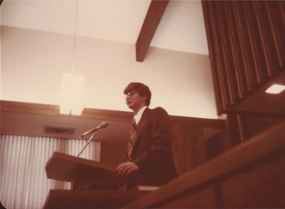 Missionary Farewell talk in February 1976