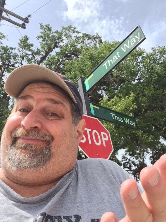 Didn't matter which way.  Had a great time. (This is in Lake Jackson, TX by the way)