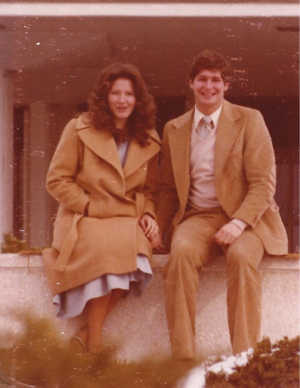 My first photo with Julianne, in January 1979 in Provo, UT