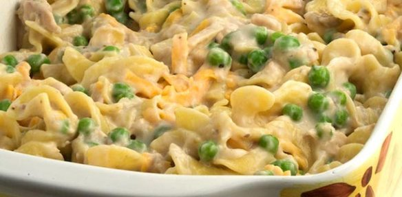 Tuna Fish Casserole - not mine, but similar looking to what I made